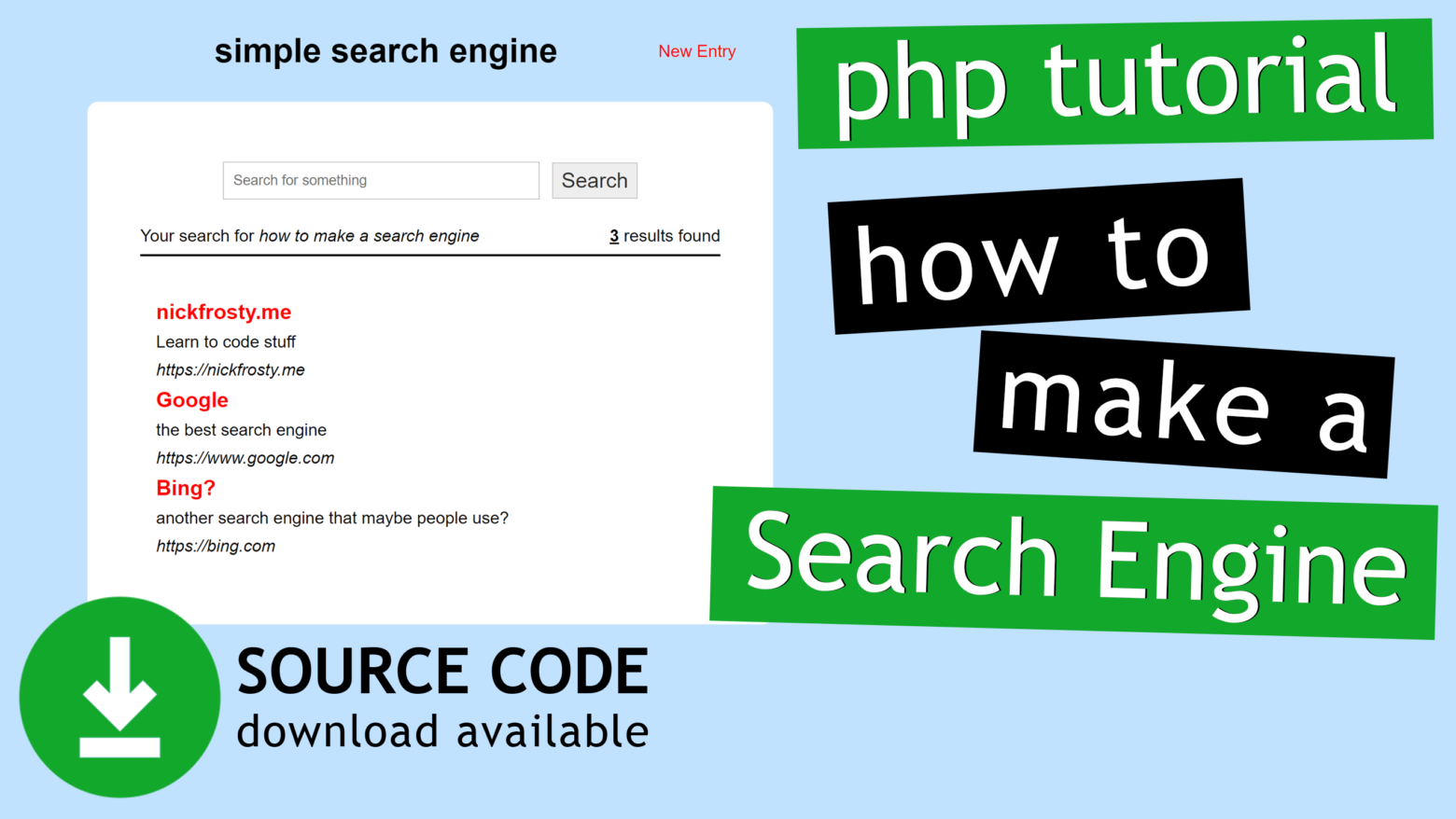 Simple PHP Search Engine Source Code (open source